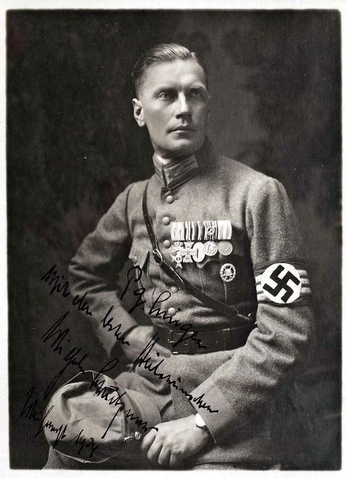 Oberleutnant Wilhelm Brückner was Hitler's chief adjutant from 1930 to 1940