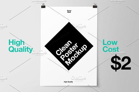 Poster Mockup by Good Stuff on @creativemarket