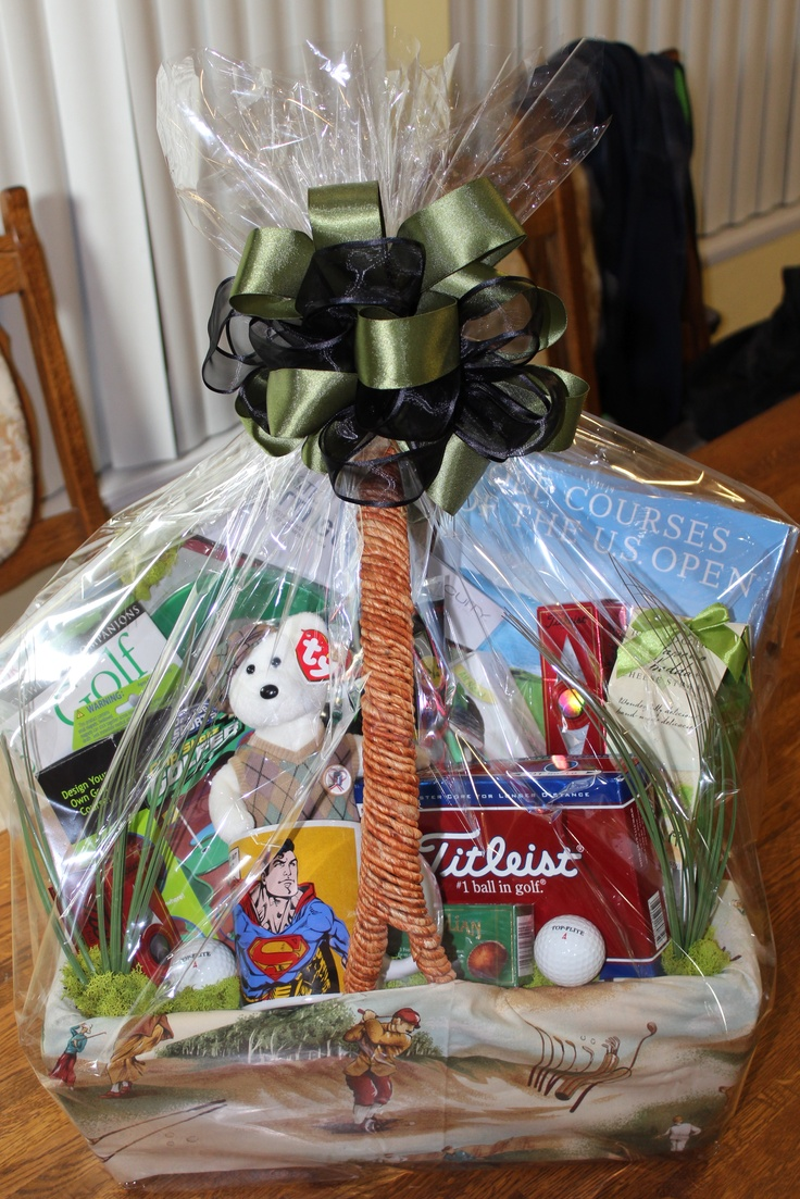 Gift Basket Wrapping Ideas 21 Best Golf Gift Basket Ideas Images On Pinterest Golf Gift