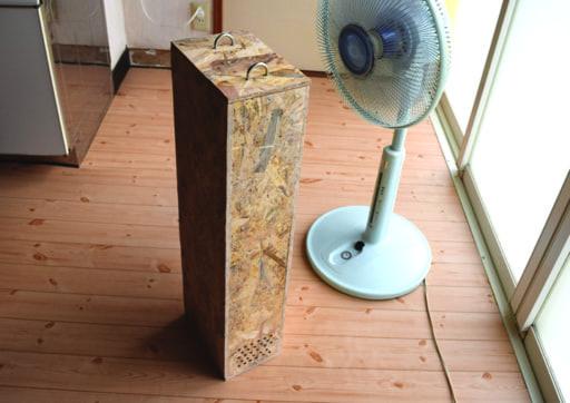 保冷剤とosbボードで 冷風器 を簡単diy クーラーが苦手な人もok Osbボード 冷風 扇風機