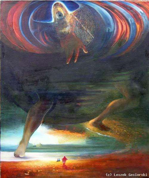 120 cm x 100 cm obraz olejny/ oil painting by Leszek Gesiorski - Apocalypse X