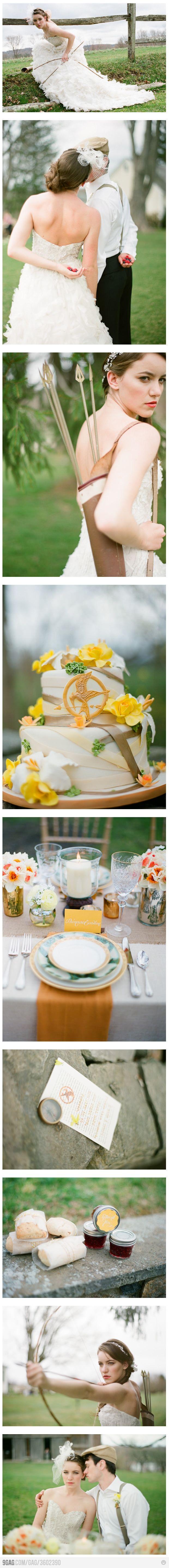 Hunger Games themed wedding photos!!!