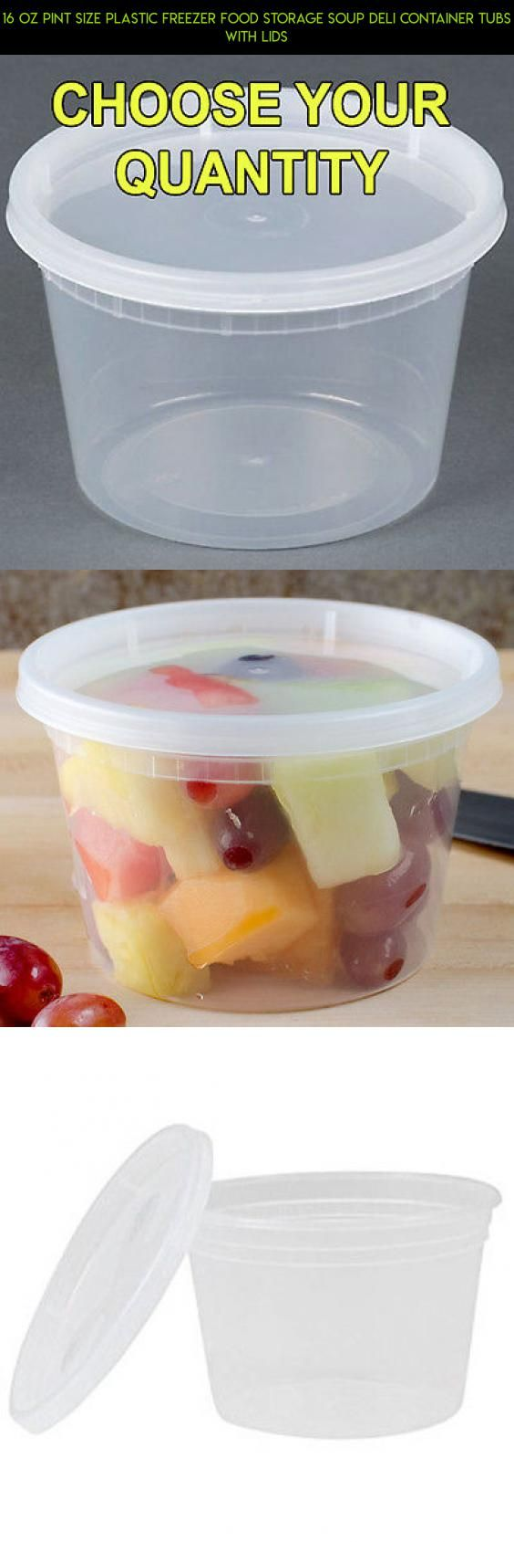 16 oz Pint Size Plastic Freezer Food Storage Soup Deli Container Tubs with Lids #with #camera #gadgets #products #storage #fpv #shopping #kit #racing #lids #parts #plans #containers #tech #technology #drone