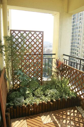 Balcony garden privacy screen
