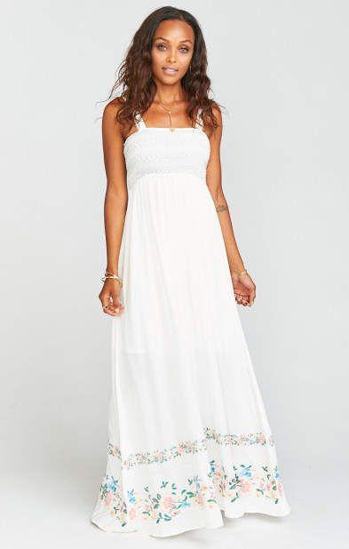 a835fca069e Eliana Maxi Dress ~ Once Upon a Flower Embroidery  ad Show Me Your MUMU