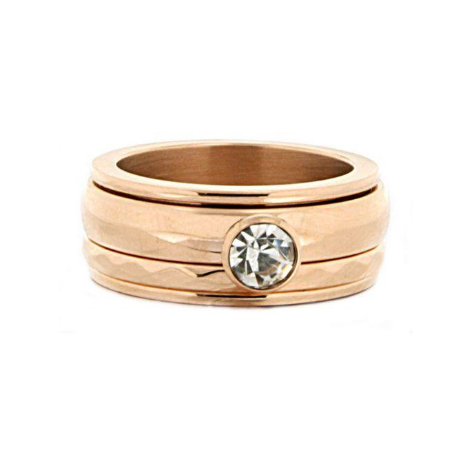 iXXXi Ring Komplett 5 Stapelring rosegold Zirkonia