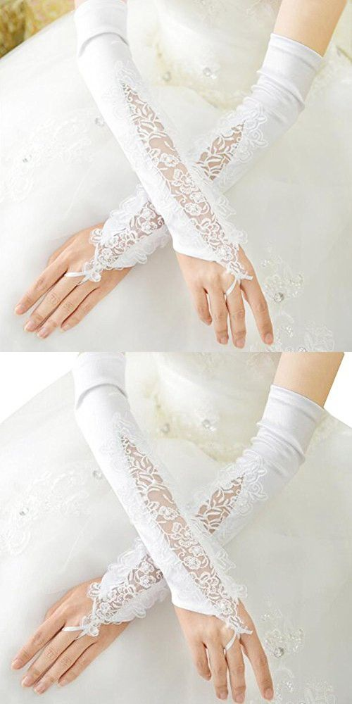 Elegant Wedding Gloves Bride Bridal Party Dress Lace Gloves