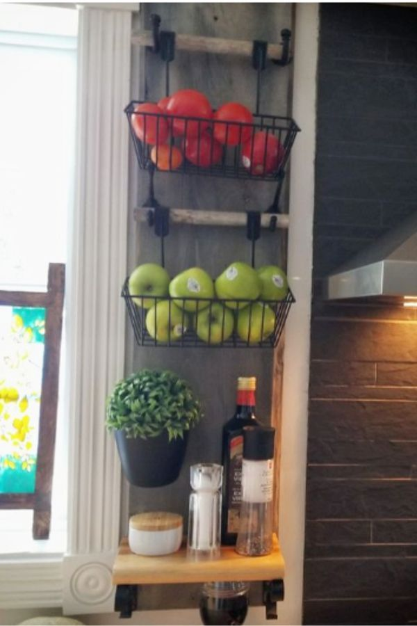 Diy Hanging Fruit Basket Ideas And Pictures Unique And Easy Wall Mounted Fruit Baskets Clever Diy Ideas Wall Basket Storage Kitchen Wall Storage Kitchen Wall Hangings