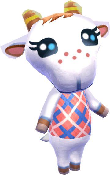 Animal Crossing New Leaf Chevre | Animal crossing, Animal ...