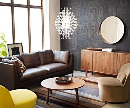 Ikea Stockholm : the coffee table and credenza in the back!