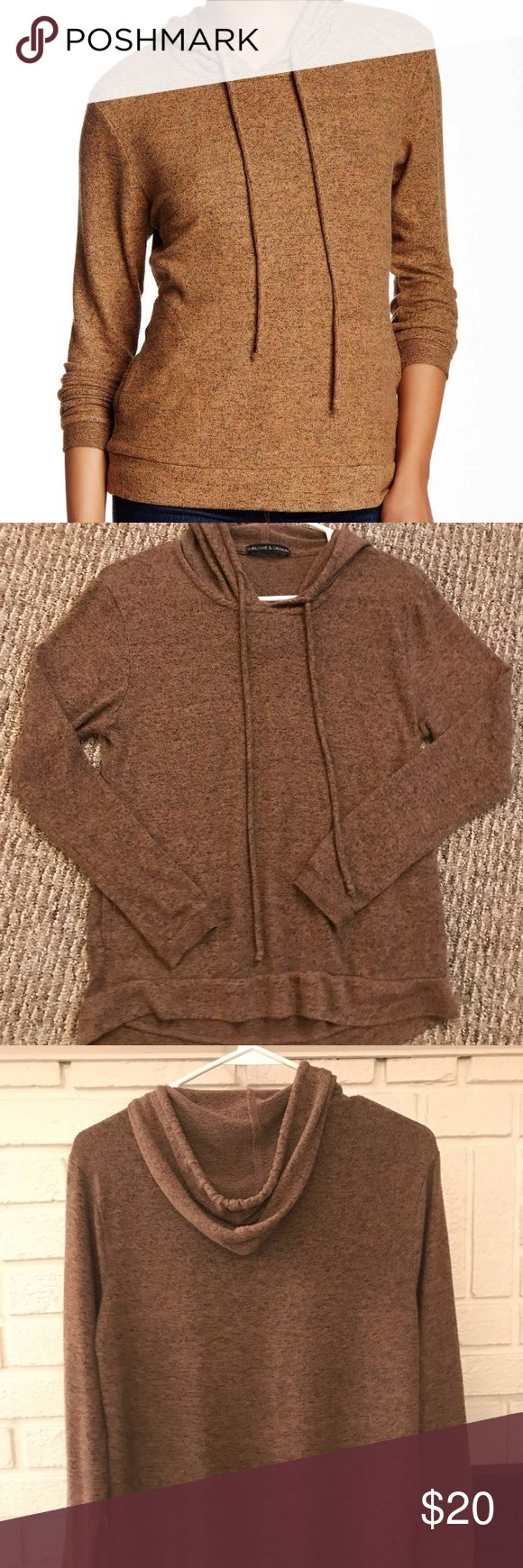 Marlowe & Graham sweatshirt (nord. rack) sz SM Great condition & SO SOFT + COZY 💕 from Nordstrom Rack— this is my favorite sweatshirt, EVER. The color is phenomenal (an orangish-yellowish color mixed with dark grey/black — grainy style color) ...light/medium weight! Size small.   Only selling because I lost it (& it was my favorite 😩) so I bought another one, and then I found my old one! 🤓 So now I have two! You'd be a very lucky girl to add this life-changing sweatshirt to your closet ☺️…