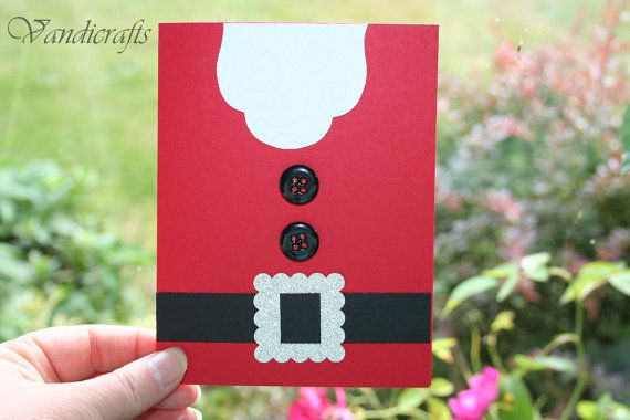 Handmade  Stampin Up  Santa Chrismas card by Vandicrafts on Etsy.  My take on: http://pinterest.com/source/stampwithronda.typepad.com/ card. :)
