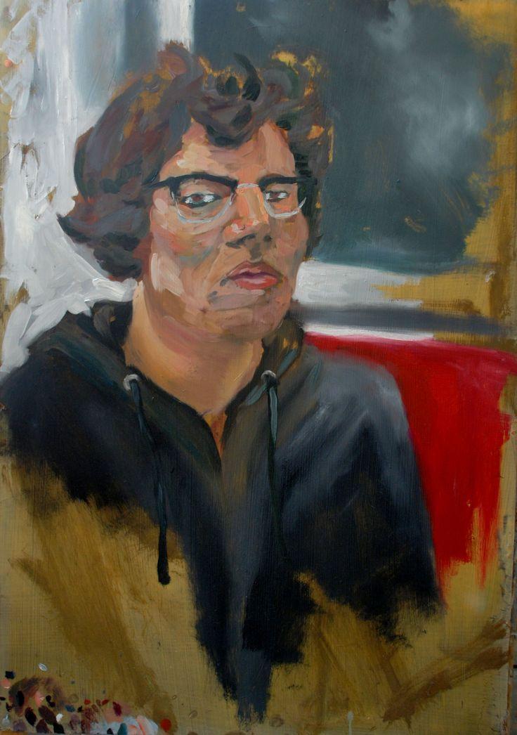 Chris   Oil on canvas by David Nemeth