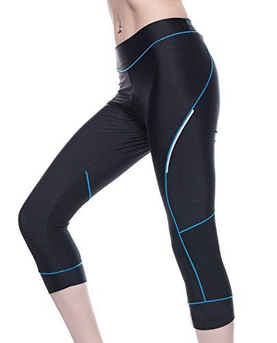 Bicycle Pants Women - 4ucycling Premium 3d Padded Breathable ¾ Cycling Tights - Maximum Comfort to the Thighs - Great for Competitive- Leisure Cycling - 100% Satisfaction Guaranteed - http://www.exercisejoy.com/bicycle-pants-women-4ucycling-premium-3d-padded-breathable-%c2%be-cycling-tights-maximum-comfort-to-the-thighs-great-for-competitive-leisure-cycling-100-satisfaction-guaranteed-3/cycling/