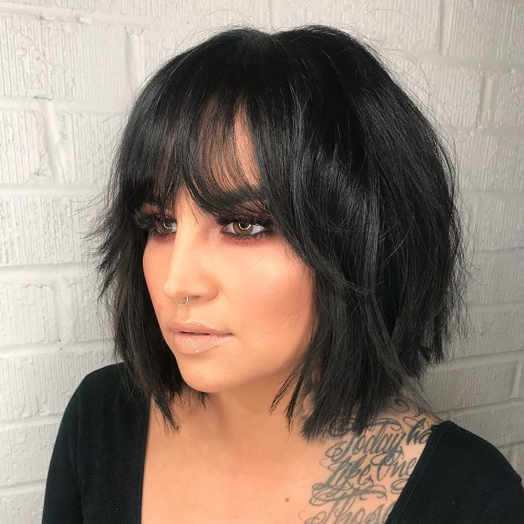 Layered Modern French Bob With Face Framing Fringe Bangs