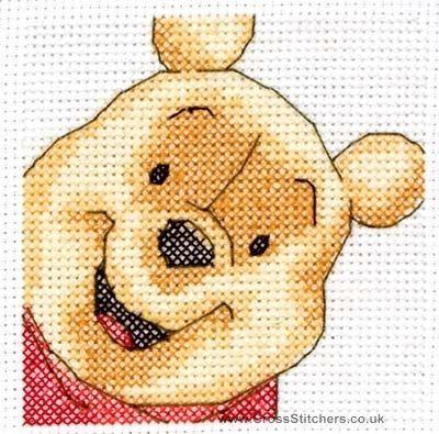 Winnie The Pooh Portrait Cross Stitch Kit - for my Rachey