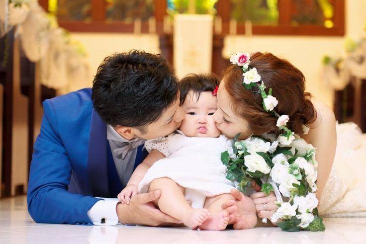 【福岡県久留米市 ホテルニュープラザKURUME・ウェディング】N様前撮り風景 家族でウェディングキス♡