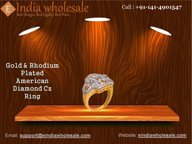 Gold & Rhodium Plated American Diamond Cz Ring  Buy exquisitely Imitation and fashion jewellery online at https://eindiawholesale.com  Choose from the largest range of necklaces, earrings, bracelets, bangles, pendants, rings and many more.  #jewelry #jewellery #fashion #shopping #jewelryaddict #shoppingaddict #artisan