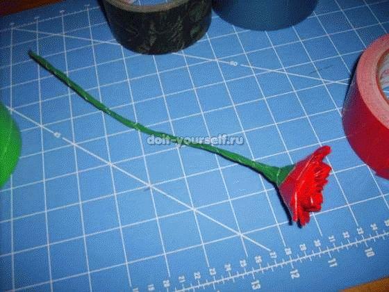Бумажные цветы своими руками из клейкой ленты