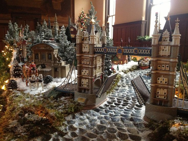 dickens village display | CincyWhimsy: ST. FRANCIS SERAPH CHRISTMAS VILLAGE