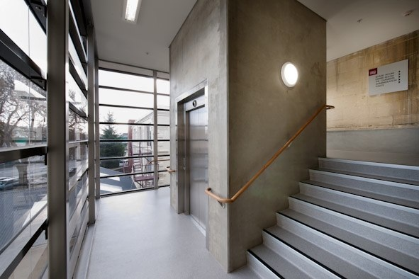 Stair and lift - Oamaru Opera House, Williams Ross Architects