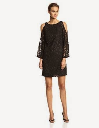black shift dress: Black Lace Shift Dress