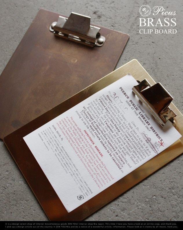 【楽天市場】BRASS CLIP BORD/ブラス クリップ ボード真鍮 無垢 アンティーク 錆/Picus ピクス 店舗 什器 クリップ 【あす楽対応_東海】:interiorzakka ZEN-YOU