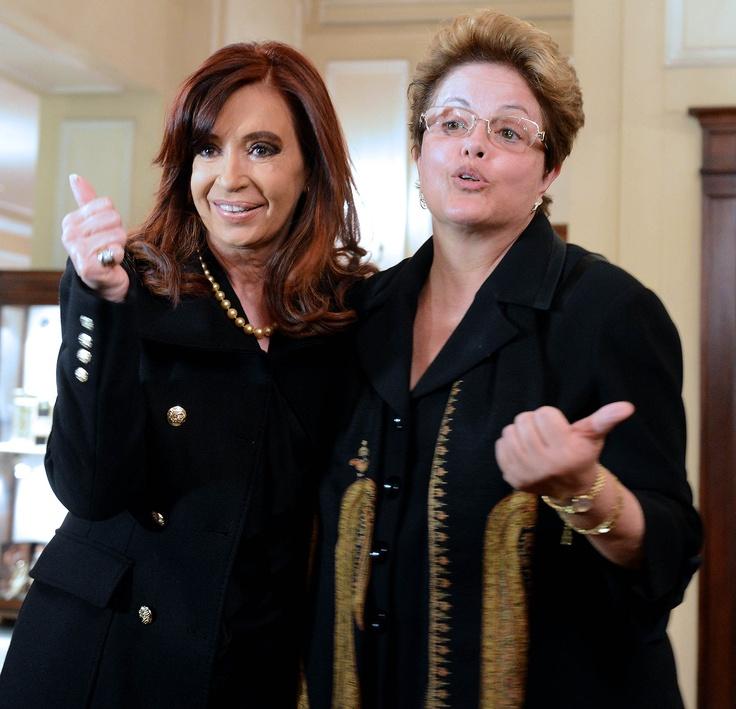 Cristina Fernández de Kirchner se reunió con su par brasileña Dilma Rousseff en Roma.