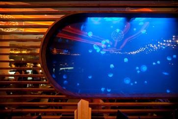 Jellyfish Aquarium in Chaobaby Restaurant, Thailand.