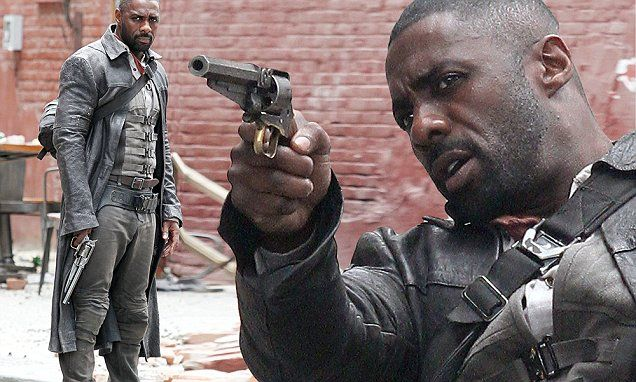 Gun-toting Idris Elba films action-packed scenes for The Dark Tower