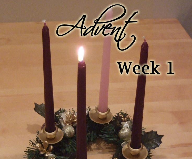 Advent week 1 reading and music holidays advent - Pinterest advent ...