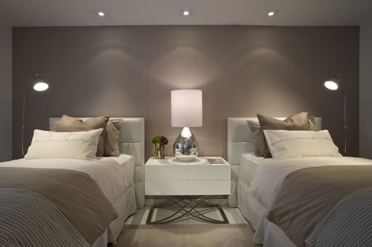 2 Bed Bedroom simple contemporary bedroom with pretty lighting and gorgeous