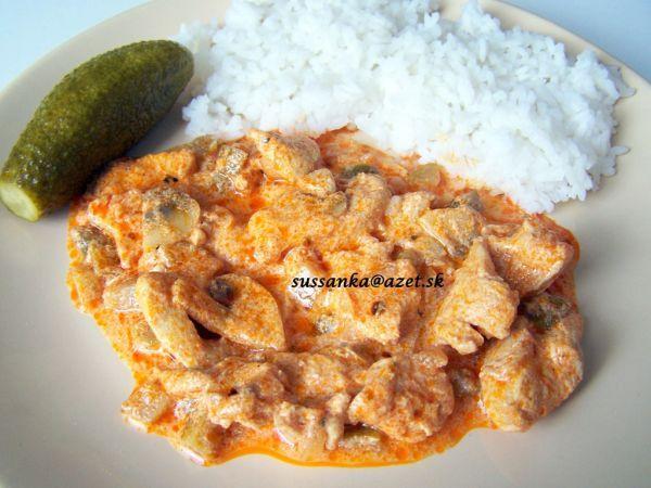 Kuracie na spôsob stroganov - rýchly a chutný obed