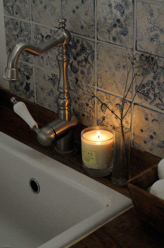 Doft i lantligt badrum