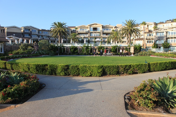 View of the Montage Laguna Beach from the back side...beautiful lawn for events.