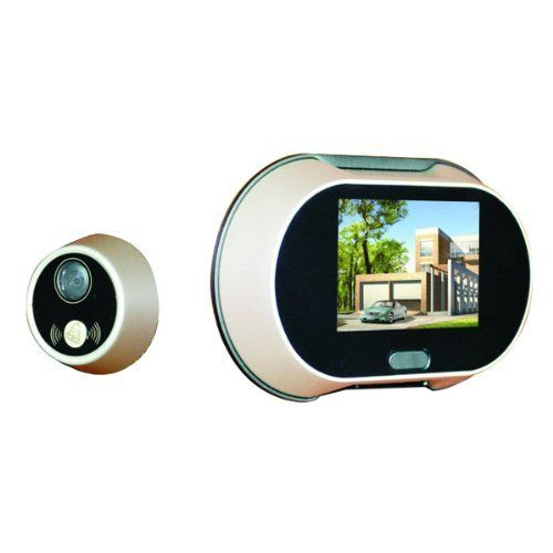 Dbpower 170 degree wide angle peephole lcd digital video for Door peephole camera