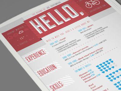 Creative Graphic Resume Designs Examples Graphic Design Cover Letter  Resume Design Inspiration