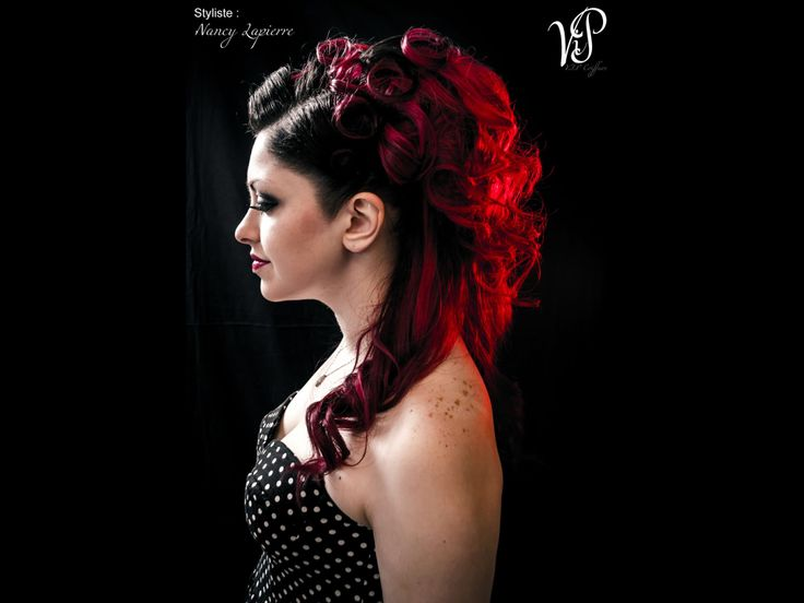 Bal,rock,pin up,couleur,cheveux,V.I.Pcoiffure,