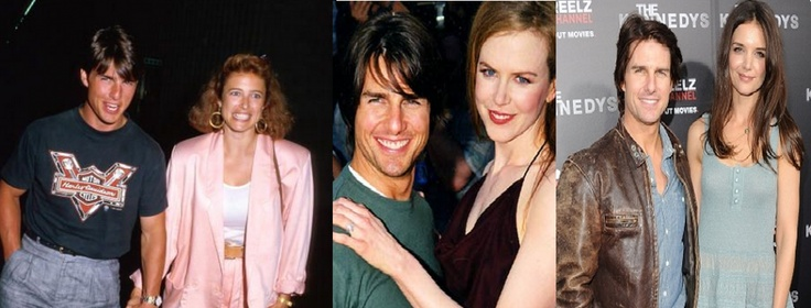 A weird coincidence didn't go unnoticed by fans about Tom Cruise's marriages.    All three wives of the Mission Impossible sta