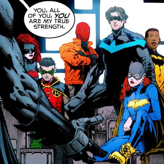 Batfamily. Bruce being nice?? And expressing his feelings?? Sign me up. Batman #17