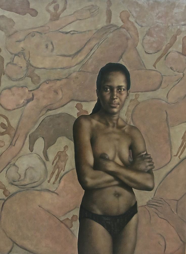 Loveday&thegoddesses  BP Award competition entry 2014 oil on board / 165cm by 125cm
