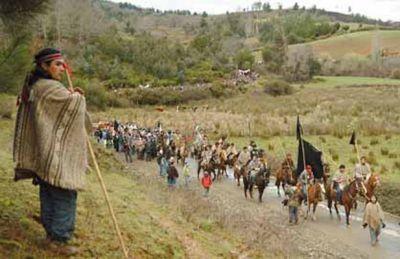 2009. Movilización Mapuche