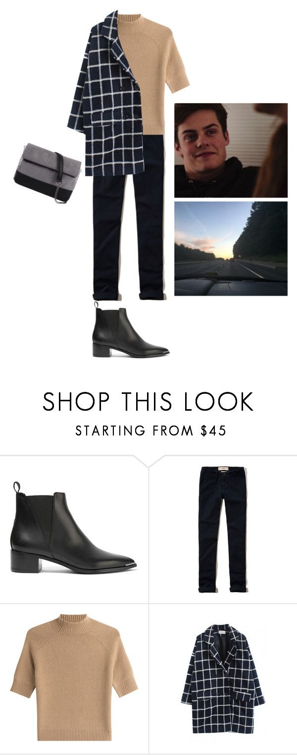 """Без названия #1944"" by asmin ❤ liked on Polyvore featuring Acne Studios, Hollister Co., Theory, WithChic, 7 Chi, Chris and skam"