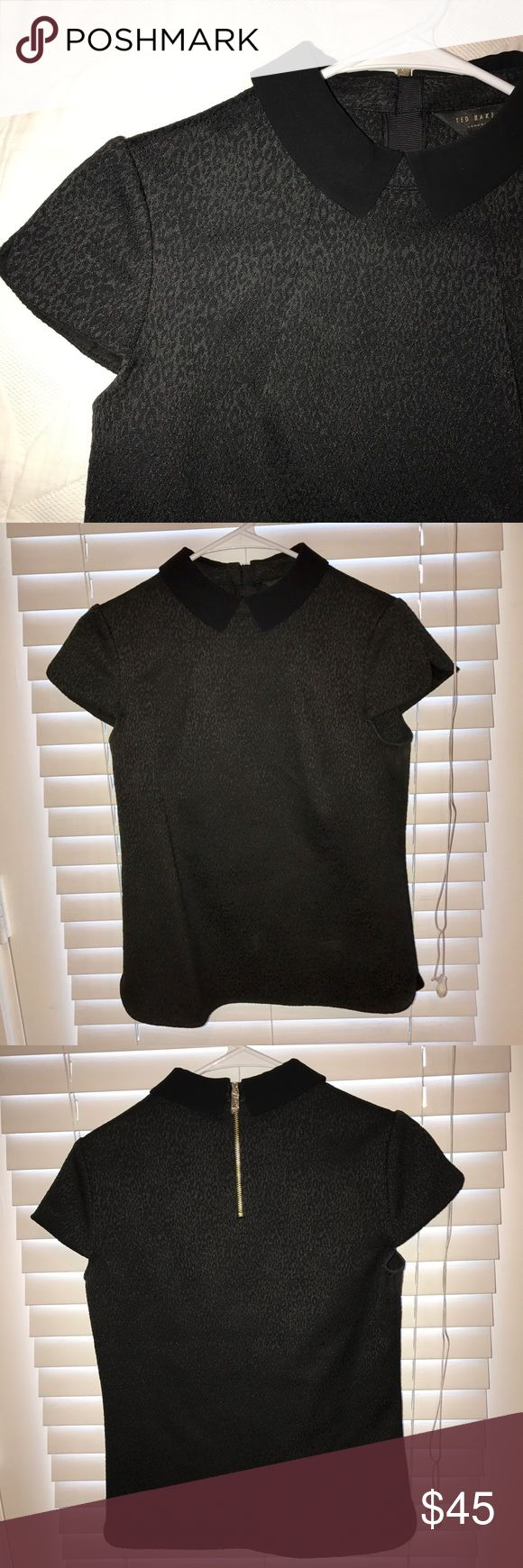Ted Baker Blouse Ted Baker blouse, black, worn once. Size 1 (small). Ted Baker Tops Blouses