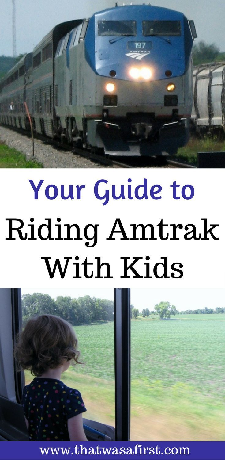 Here is what you can expect when riding on Amtrak with kids.
