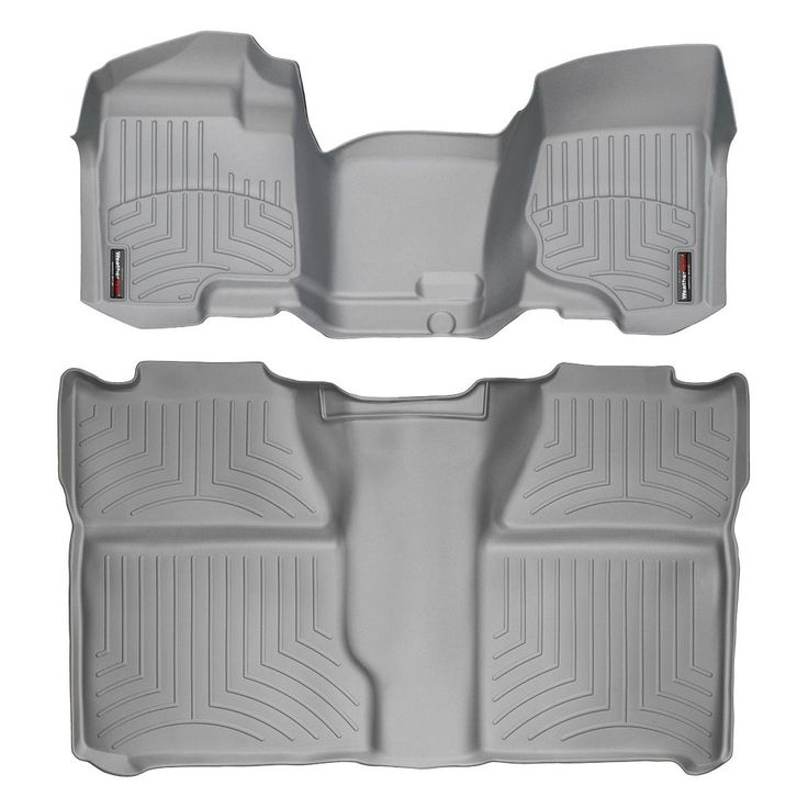 """WeatherTech 462941-460660 Series Grey Front and Rear FloorLiner Over the Hump - FloorLiner(TM) In the quest for the most advanced concept in floor protection, the talented designers and engineers at WeatherTech(R) have worked tirelessly to develop the most advanced floor protection available today! The WeatherTech(R) FloorLiner(TM) accurately and completely lines the interior carpet giving """"absolute interior protection(TM)""""! The WeatherTech(R) FloorLiner(TM) lines the interior carpet up the…"""