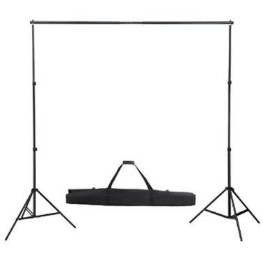 Sammenleggbar stativ for montering av bakgrunner, 300x210cm