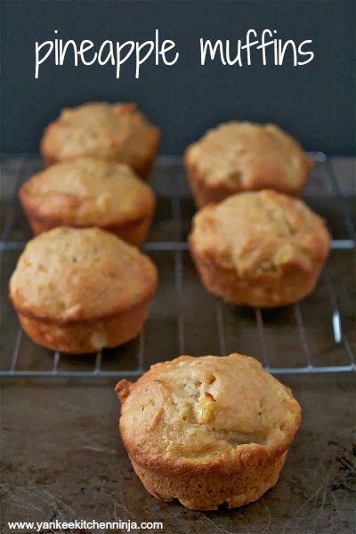Light pineapple muffins -- from the Yankee Kitchen Ninja