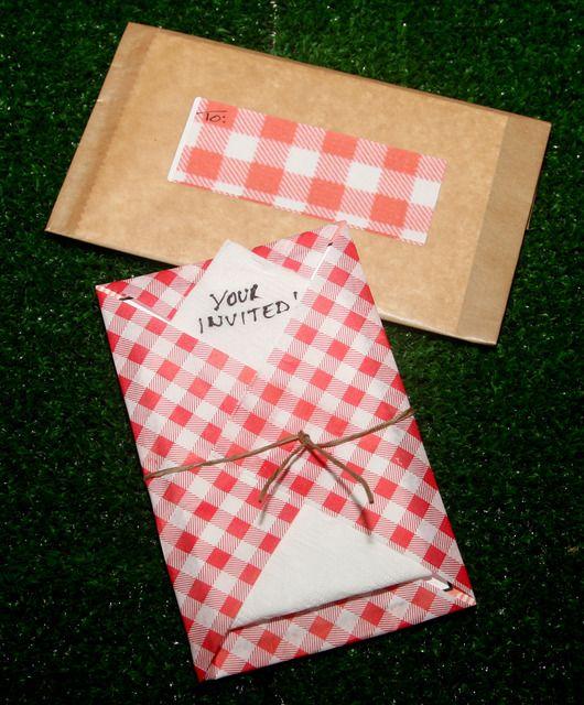 What a cool picnic birthday invitation