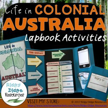 Life in Colonial Australia Lapbook Activities Designed to compliment the Australian HASS curriculum, this Lapbook is a great way to revise student understanding and consolidate learning. Use it as an assessment or as a whole class revision activity, either way, this Lapbook will be sure to engage your #lapbook #australiancurriculum